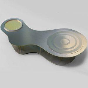 """Кофейный столик из латуни """"Круги на воде"""""""