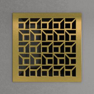 Декоративная решетка из латуни