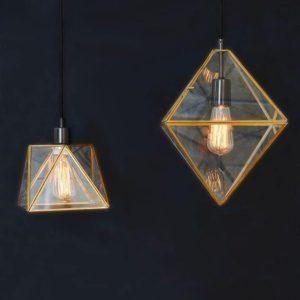Латунные подвесные светильники Prism от West Elm
