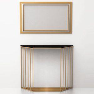 Консольный столик Grille (латунь, нержавеющая сталь) СА 06