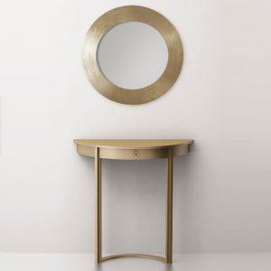 Консольный столик The moon (латунь, нержавеющая сталь)