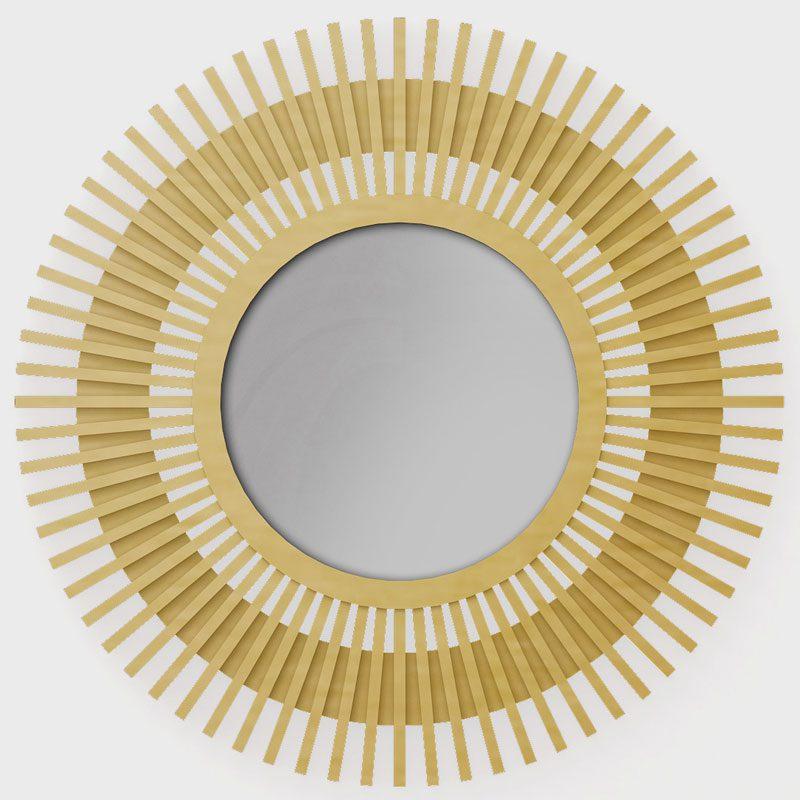 Рамка для настенного зеркала The Sun (латунь, нержавеющая сталь)