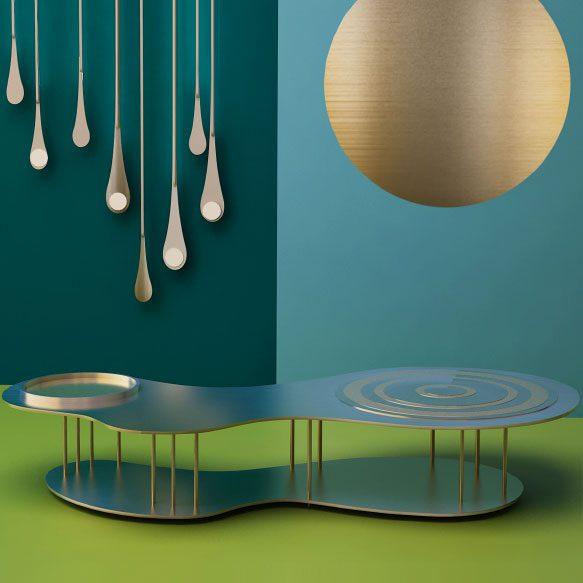 Кофейный столик «Круги на воде» (фото 2)