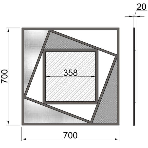 "Настенное зеркало ""Теорема"" (MA 08) размеры"