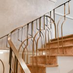 BRASS BALUSTRADE FOR A PRIVATE RESIDENCE