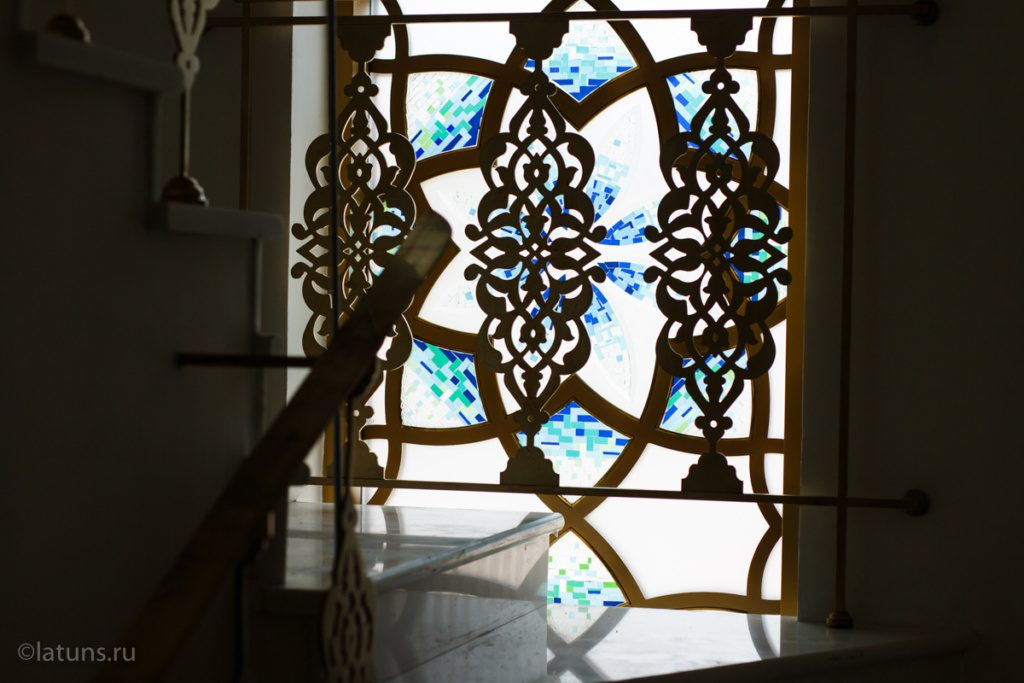 BRASS décor FOR NEW MOSQUE ON FEDOSYEVSKAYA STREET IN KAZAN, TATARSTAN