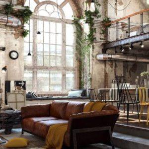 Индустриальный стиль: интерьеры с промышленным оттенком