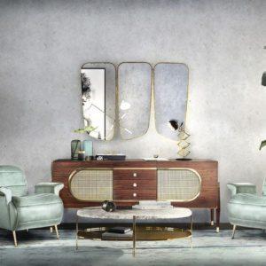 Удивительные настенные зеркала для вашего проекта гостиной