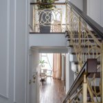 OPENWORK STAIRCASE FOR A SUBURBAN RESIDENCE NEAR MOSCOW
