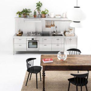 Металлические кухонные шкафы идеи-придание гламурного вида.