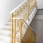 BRASS STAIRCASE IN RACHMANINOV CLUB APARTMENTS