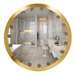 Зеркало в латунной раме со встроенной подсветкой «Огни рампы»