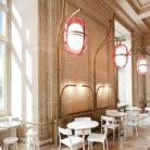 Кафе в Лувре в декорациях Матье Леаннера