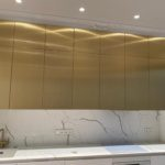 BRASS KITCHEN CABINET FRONTS. LUXURY IN YOUR HOME
