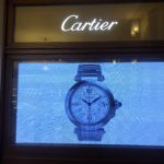 BRASS WINDOW FRAME FOR CARTIER